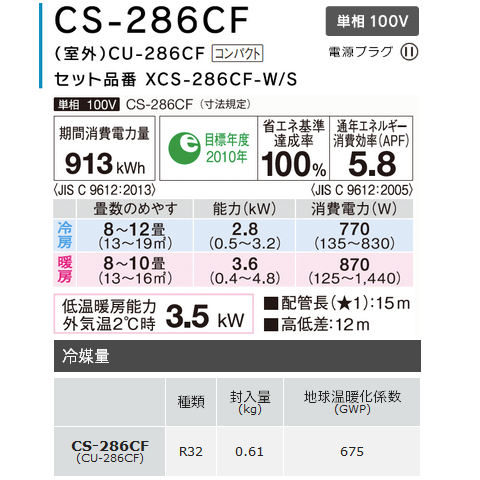 ĐIỀU HOÀ KHÔNG KHÍ PANASONIC CS-286CF/CU-286CF